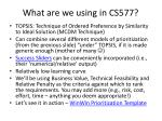 what are we using in cs577