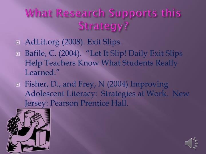What Research Supports this Strategy?