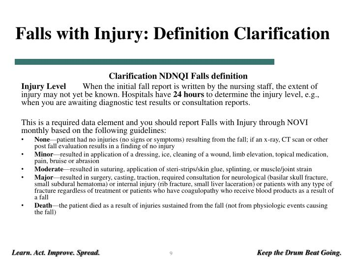 Falls with Injury: Definition Clarification