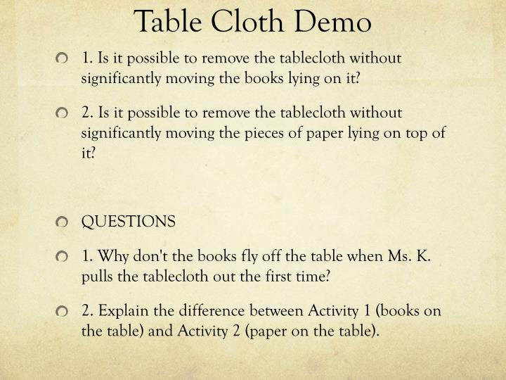 Table Cloth Demo