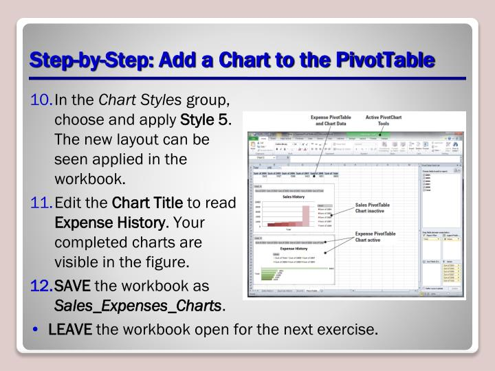 Step-by-Step: Add a Chart to the PivotTable