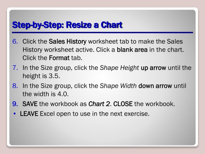 Step-by-Step: Resize a Chart