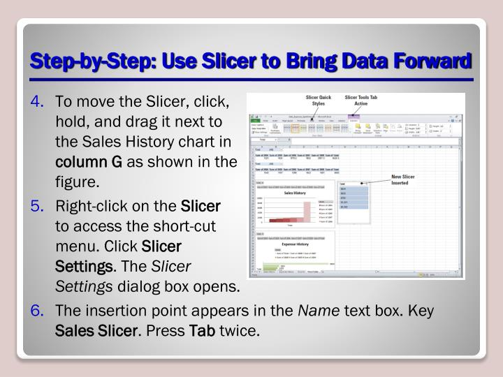 Step-by-Step: Use Slicer to Bring Data Forward