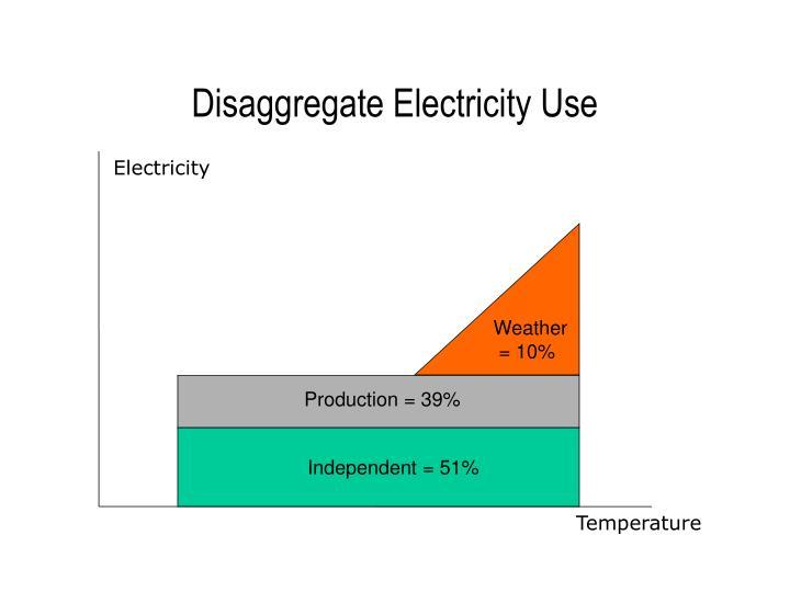 Disaggregate Electricity Use
