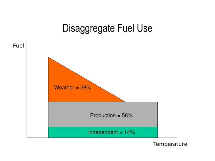Disaggregate Fuel Use