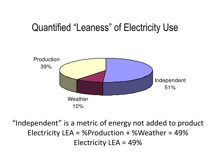 """Quantified """"Leaness"""" of Electricity Use"""