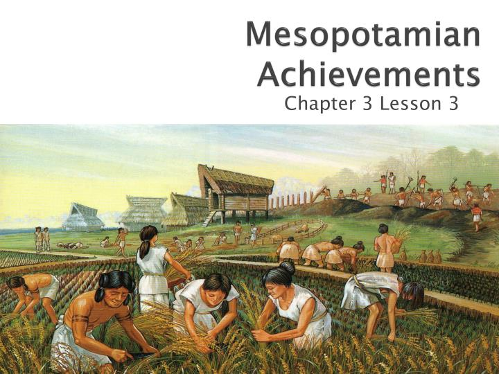 neolithic agricultural revolution Lessons about agriculture during the neolithic period can provide activities to help student understand this important time.