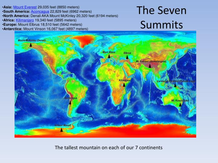 The seven summits