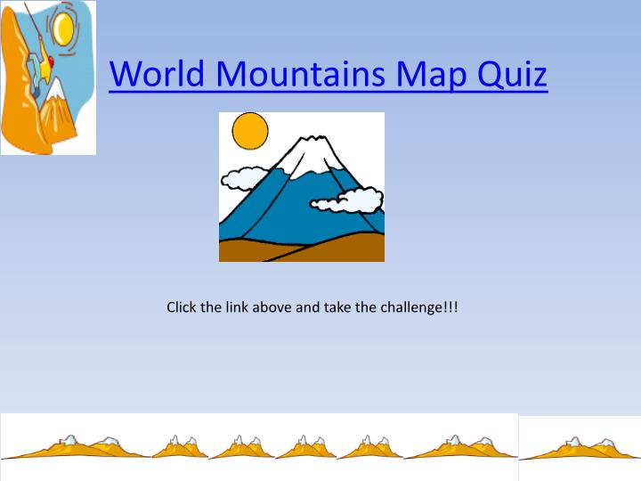 World Mountains Map Quiz