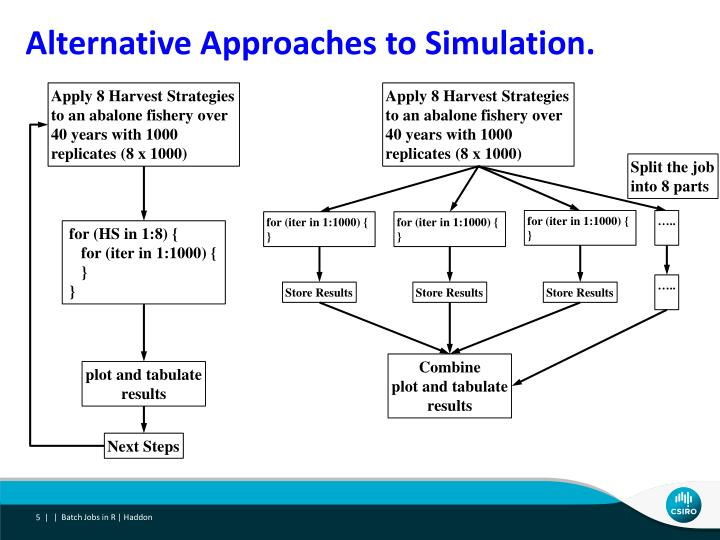 Alternative Approaches to Simulation.