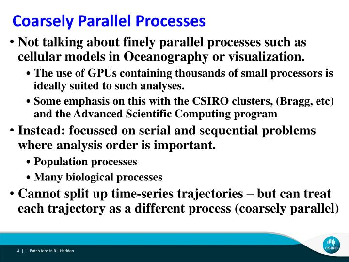 Coarsely Parallel Processes