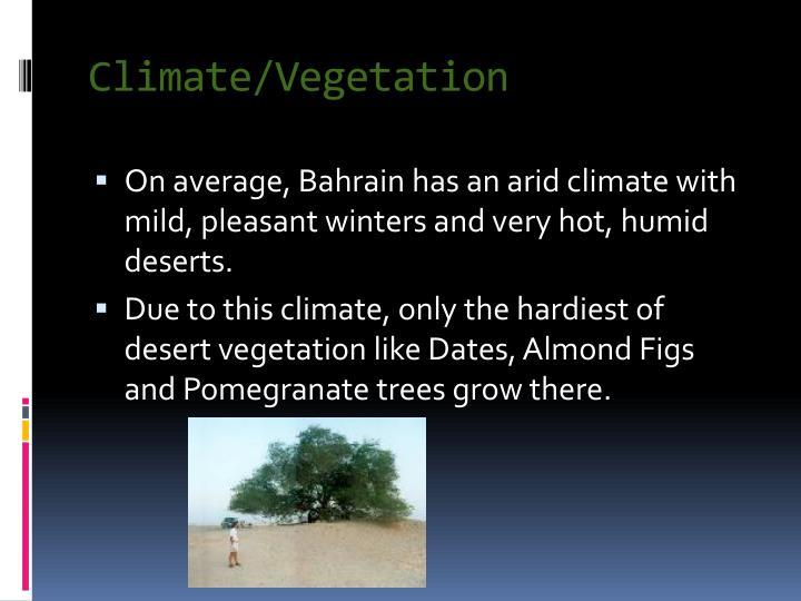 Climate/Vegetation
