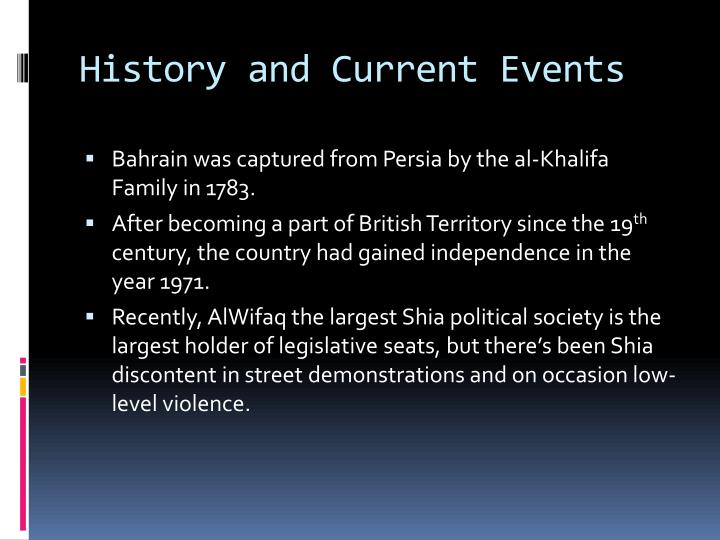 History and Current Events