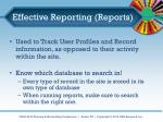 effective reporting reports