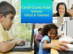carroll county public schools gifted talented