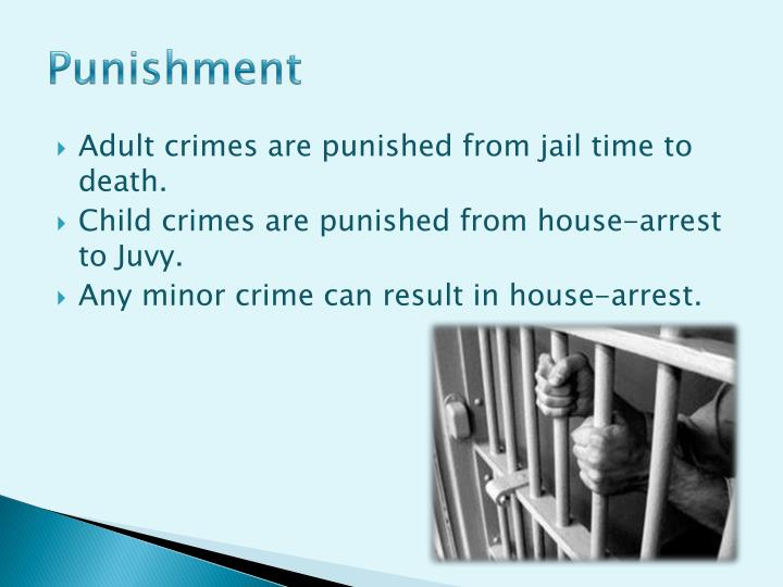 adult crime adult time Since california voters approved proposition 57 last november (less than two weeks before preciado was killed), the power to decide whether to try juveniles as adults has shifted from prosecutors to judges on monday, a hearing to decide the defendant's fitness to be tried as an adult was continued.
