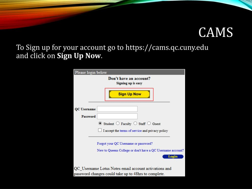 PPT - CUNYfirst/CAMS/MyQC Office of Converging Technologies
