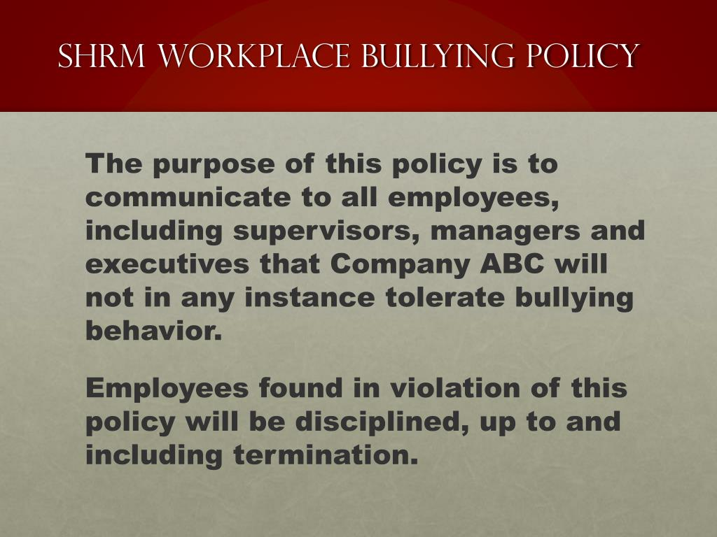 PPT - Bullying in the Workplace PowerPoint Presentation - ID