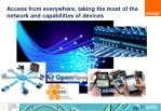 access from everywhere taking the most of the network and capabilities of devices