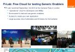 fi lab free cloud for testing generic enablers