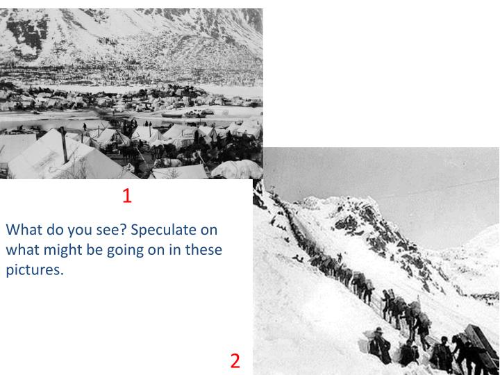 what do you see speculate on what might be going on in these pictures n.