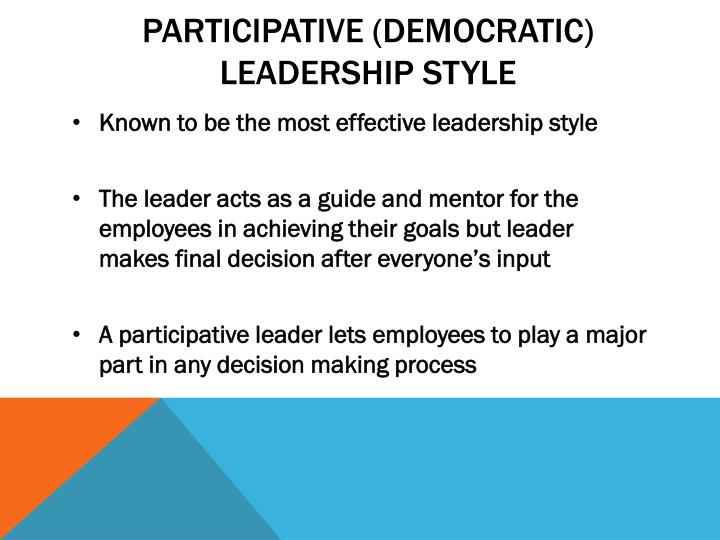 decision making and democratic leadership