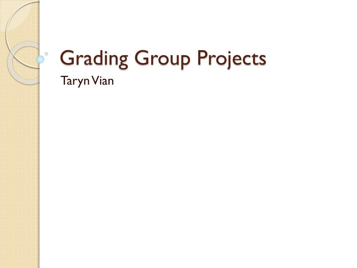 Grading group projects