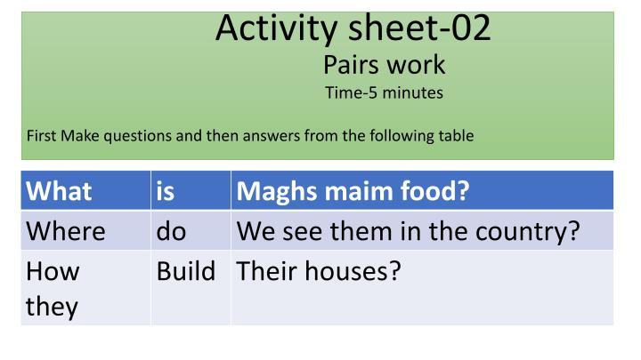Activity sheet-02