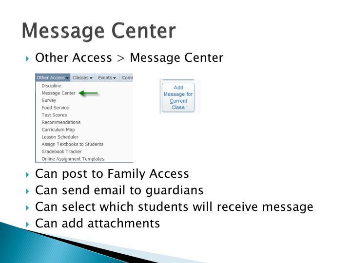 Message Center