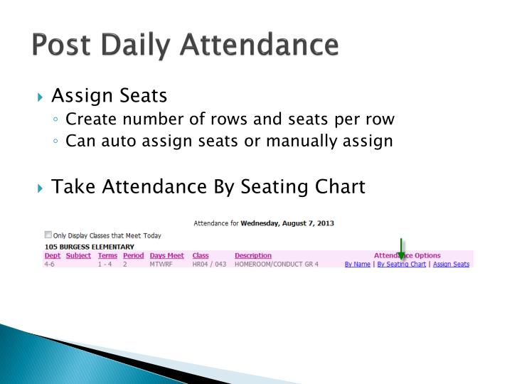 Post Daily Attendance