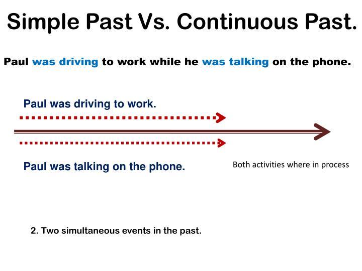 Simple Past Vs. Continuous Past.