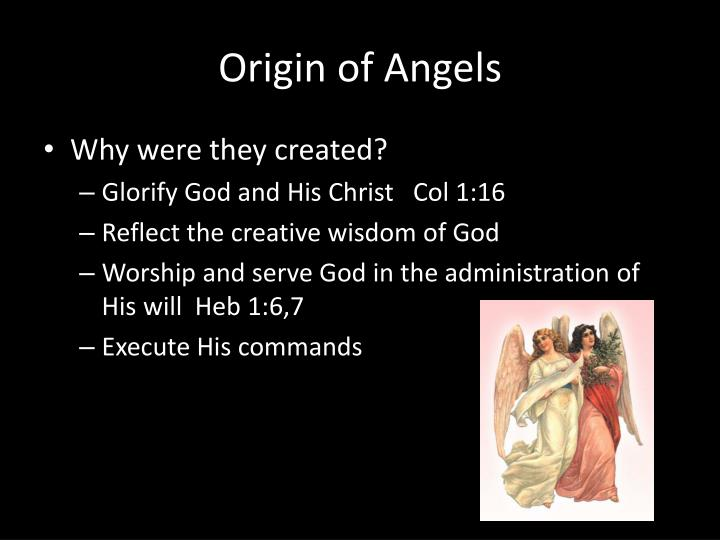 Origin of Angels