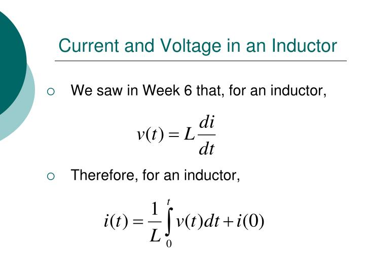 Current and Voltage in an Inductor