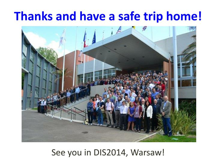 Thanks and have a safe trip home!