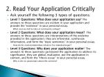 2 read your application critically