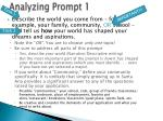 analyzing prompt 1