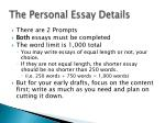 the personal essay details