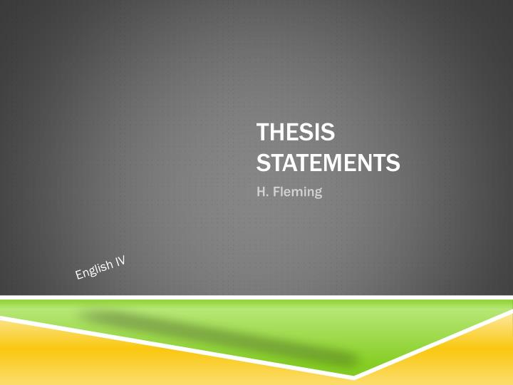 thesis statements n.