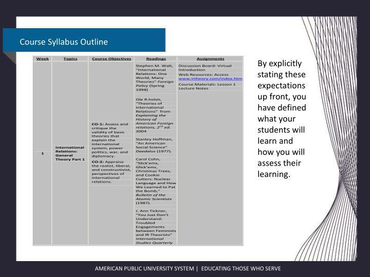 Course Syllabus Outline