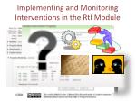 implementing and monitoring interventions in the rti module2