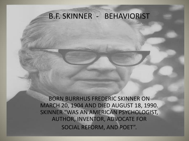 carl rodgers and b f skinner behaviorism comparison betwee Hi this is some work that i put into my essay last term but figured it could be used for studying purposes also introduction personality psychology is a.