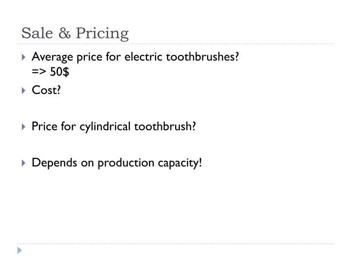 Sale & Pricing
