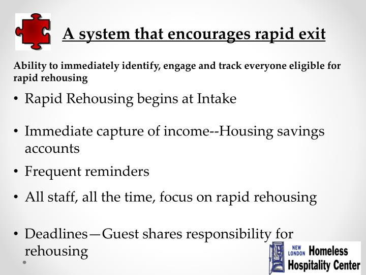 A system that encourages rapid exit