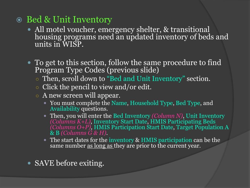 PPT - Putting it all together: Housing Inventory Chart (HIC