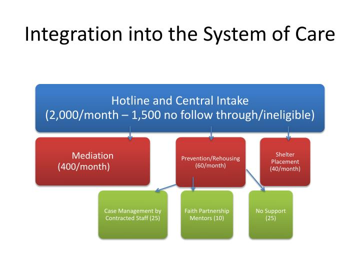 Integration into the System of Care
