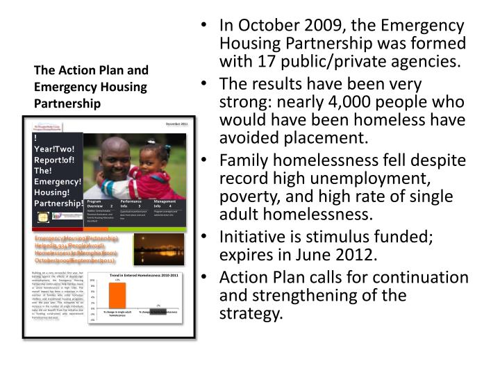 The Action Plan and Emergency Housing Partnership