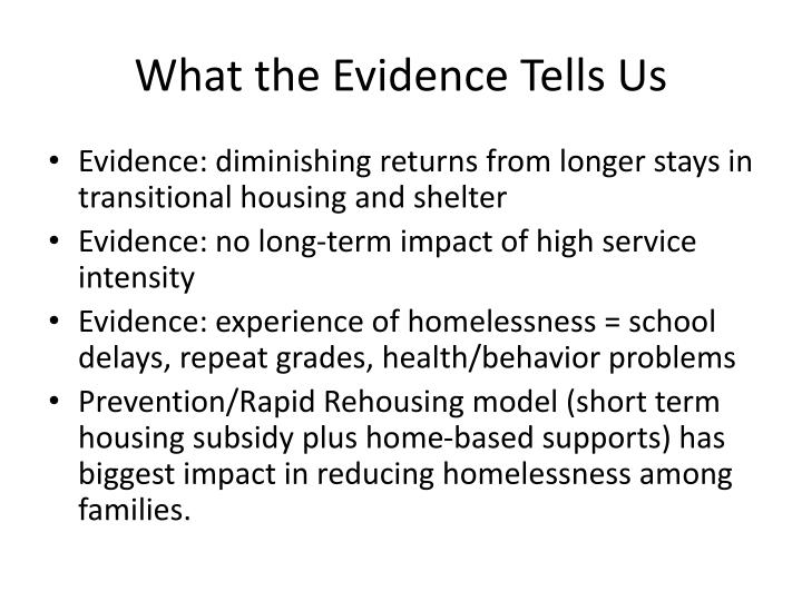 What the Evidence Tells Us