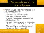 reincarnation and the caste system