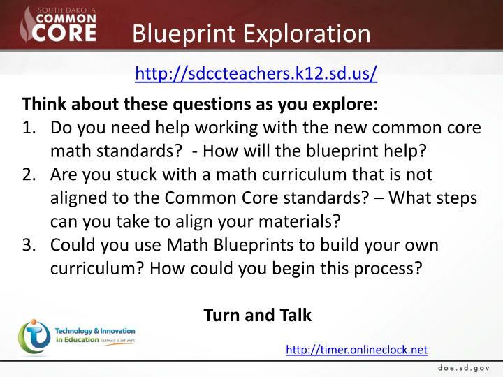 Blueprint Exploration