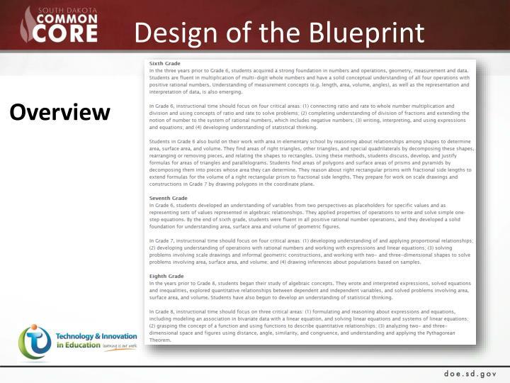 Design of the Blueprint